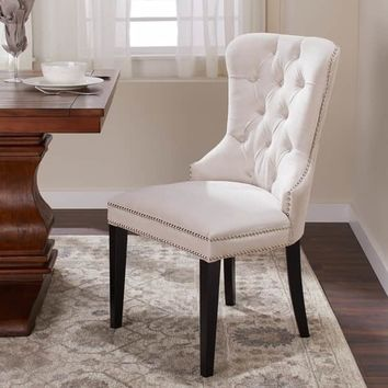 Abbyson Versailles Tufted Velvet Dining Chair | Overstock.com Shopping - The Best Deals on Dining Chairs