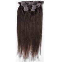 Emosa Clip in 100% Real Remy Human Hair Extensions Silky Straight #2 Dark Brown (20'' 7pcs 70g)