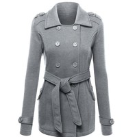 2017 Women Woolen Coat Ladies Winter Autumn Jackets Elegant Casual Trench Coats Women Slim Double Breasted Black Winter Coats