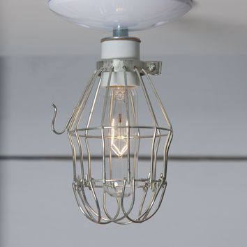 Vintage Metal Cage Light - Ceiling Mount