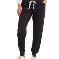 Drawstring Foldover Sweatpants by Charlotte Russe