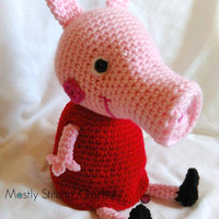 Peppa Pig Inspired; CROCHET PATTERN; PDF