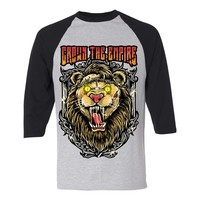 Lion Heather/Black Baseball Tee : CTE0 : MerchNOW - Your Favorite Band Merch, Music and More