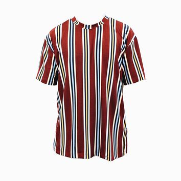 Preston Stripe T-Shirt (Burgundy)