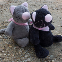 Fat Kitty Cat Sewing Pattern and Tutorial Style Sewing Instruction Plush Toy Animal Instant Download PDF