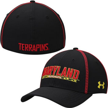 Maryland Terrapins Under Armour 2014 Sideline Huddle II Performance Flex Hat – Black
