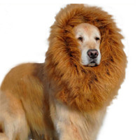 Pet Supplies exclusive pet dog cat wig wig Lionhead set dog collar