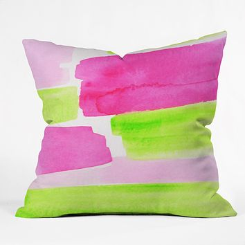 Rebecca Allen The Garden Party Throw Pillow