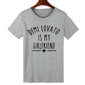 Demi Lovato Is My Girlfriend T-Shirts - Men's Crew Neck Novelty Top Tee
