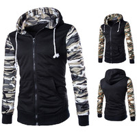Camouflage Zip Up Men's Fashion Hoodie