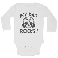 My Dad Rocks! Funny Kids Onesuit