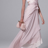 Silk Mousseline And Satin Faced Chiffon Bustier Gown by J. Mendel - Moda Operandi