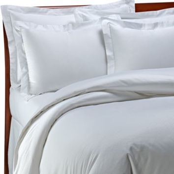 Palais Royale Hotel Collection Pillow Sham in White Dot