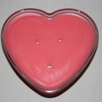 Heart Shaped Candle - 3 Wicked - You choose Color and Scent