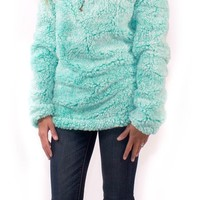 Simply Southern Sherpa Monogrammed Pull Over - 3 Colors Choices