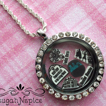 Disney's Haunted Mansion Necklace - Haunted Mansion Floating Locket - Haunted Mansion Memory Locket - Hitchhiking Ghosts Necklace