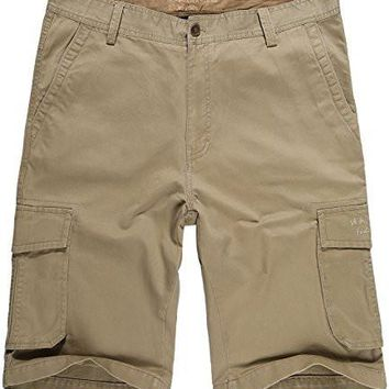 Men's Cotton Short Dungarees Lightweight Breathable Relaxed Fit Cargo Short