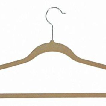 Ben&Jonah Collection Velvet Anti-Slip Hangers - Tan