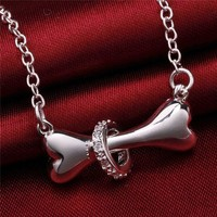 Dog Bone Fashion Pendant Necklace