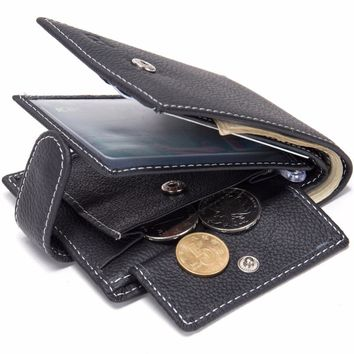 Cool Genuine Cow Leather Men Wallet Coin Pocket Thin Purse Card Holder Slim purse  wallet men  men wallets  luxury wallet