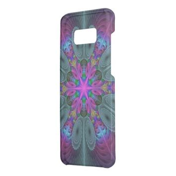 Mandala From Center Colorful Fractal Art With Pink Get Uncommon Samsung Galaxy S8 Plus Case