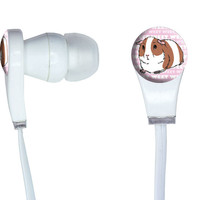 Guinea Pig - Pet Critter Pink In-Ear Headphones