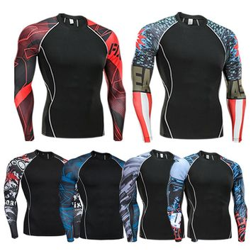 2018 New Summer Men's Sports T-shirt Long-Sleeved Shirt Fitness Bottom Comfortable And Quick-Drying Sportswear Moth-proof T-shir