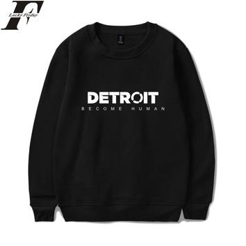 LUCKYFRIDAYF Detroit Become Human Sweatshirts Hot Game Steelers Spring Hoodies Pullover Regular Sweatshirts Clothes Plus Size