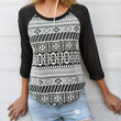 Aztec French Terry Top