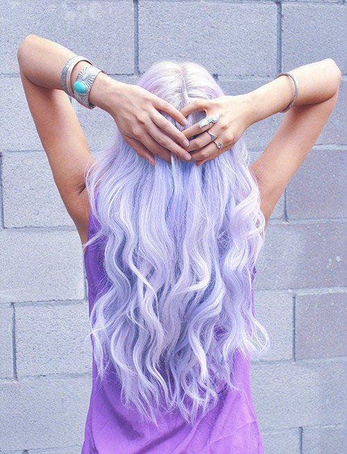 Lilac hair extensions