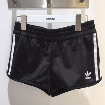 adidas Originals Women Sports Classic Three Stripe Black Shorts