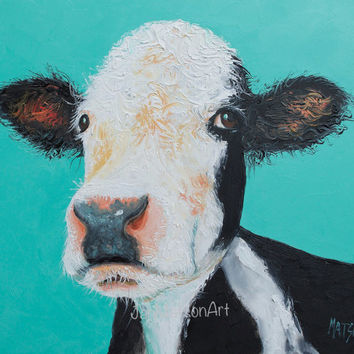 COW painting, Animal Art, Kitchen painting,Animal Painting,kitchen wall decor,rustic home decor,country home decor,cow art,Etsy nursery art