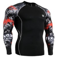 Fixgear Mens Womens Under Compression Cycling Base Layer Tee Shirt Long Sleeve XXL