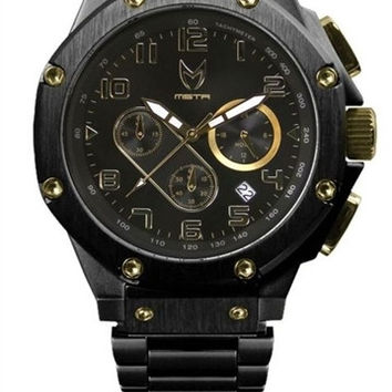 Meister Ambassador AM120SS Black Gold Watch