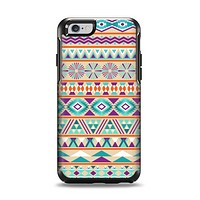 The Tan & Teal Aztec Pattern V4 Apple iPhone 6 Otterbox Symmetry Case Skin Set