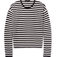Haider Ackermann - Oversized Striped Ribbed Wool and Cashmere-Blend Sweater