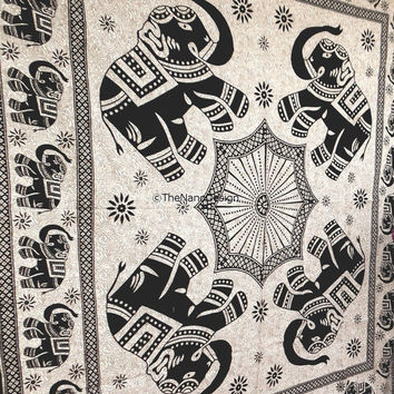 Elephant Tapestry, Psychedelic tapestry, Mandala, Star Tapestry, Wall Hanging, Wall Decor, Bedspread