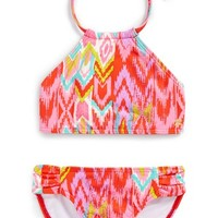 Girl's Billabong 'Radiant Heartbeats' Two-Piece Swimsuit