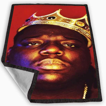 Notorious BIG Biggie Chris Wallace Blanket for Kids Blanket, Fleece Blanket Cute and Awesome Blanket for your bedding, Blanket fleece *