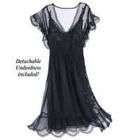 Noir Lace Dress - New Age & Spiritual Gifts at Pyramid Collection