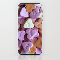structures . heart iPhone & iPod Skin by findsFUNDSTUECKE
