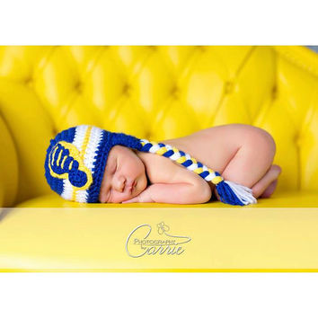 Crochet Toddler hat, St. Louis Blues Baby hat, crochet hat for babies and toddlers, 12 month to 4T sizes available