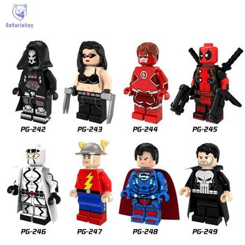 Deadpool Dead pool Taco Single Sale Super Heroes Female Wolverine Laura Red Flash  Punisher Superman Building Blocks Children Gift Toys PG8063 AT_70_6