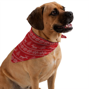 Natt Christmas Knitting Deer Pet Bandana