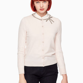bow embellished cardigan | Kate Spade New York