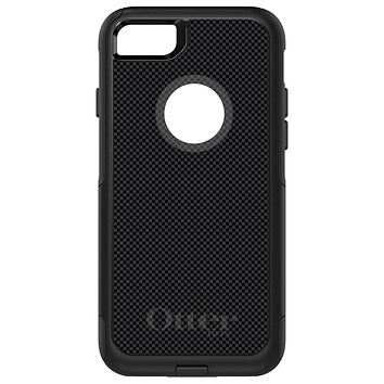 DistinctInk™ OtterBox Commuter Series Case for Apple iPhone or Samsung Galaxy - Black Grey Carbon Fiber Printed Design