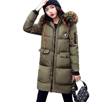 Women Hooded Jacket made with Down Cotton