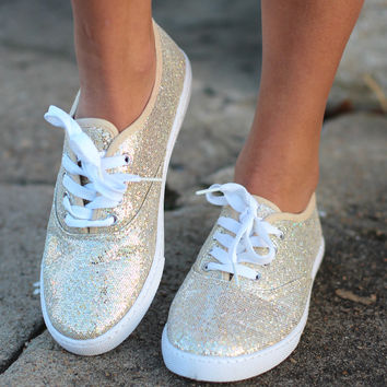 Favorite Sneakers {Gold Glitter}