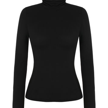 Long-Sleeve Turtle-Neck Pullover Shirt
