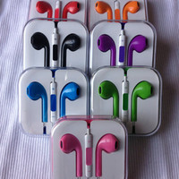 NEW COLORS EARPODS BLUE PINK RED GREEN BLACK for all apple product with 3.5 mm